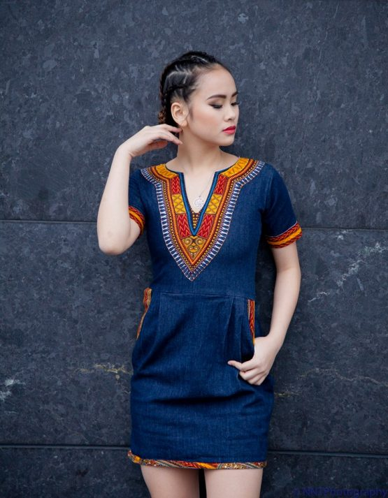 17098682 1615615771801050 8971305881400952165 n 555x713 - African  Dashiki dresses / African denim dress / African clothing /