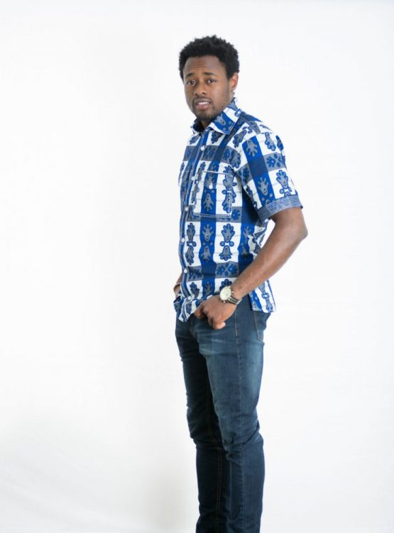 DSC 3857 e1533608882131 555x751 - African Fabric Designs Shirt Kente Dashiki African Print wax