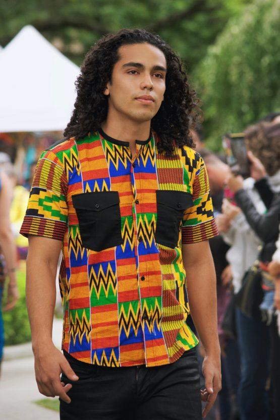 DSC 4224 R COL SHARP 555x833 - African Fabric Designs Shirt Kente Dashiki African Print wax