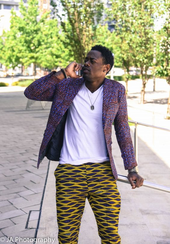 yao fashion 1 of 1 5 e1533860180452 565x809 - Boss Blazer-African Print Lapel Design, Ankara Suit