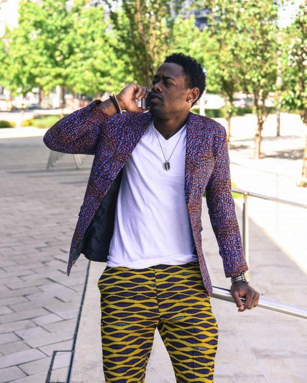yao fashion 1 of 1 5 e1533860180452 600x750 - Boss Blazer-African Print Lapel Design, Ankara Suit