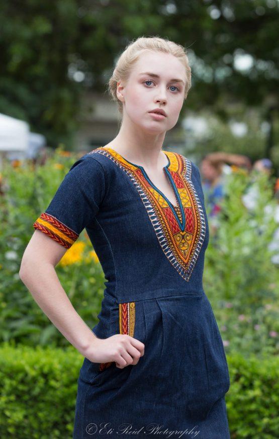 3B5A8402 e1533785397883 555x872 - African  Dashiki dresses / African denim dress / African clothing /